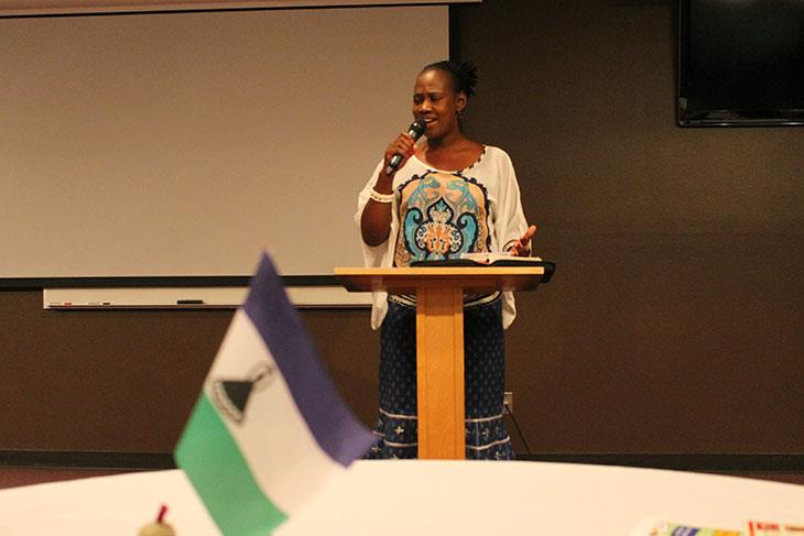 Malichaba Lekhoaba Presenting to the USA women about her journey in the Lord