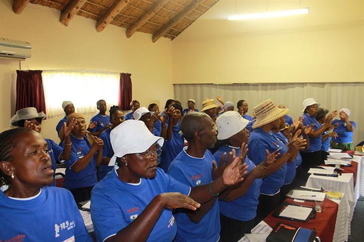 Giving Thaba-Bosiu health training