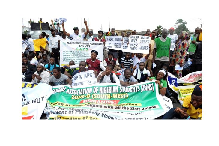 Teachers strike for more than a month demanding funding for education in Nigeria.