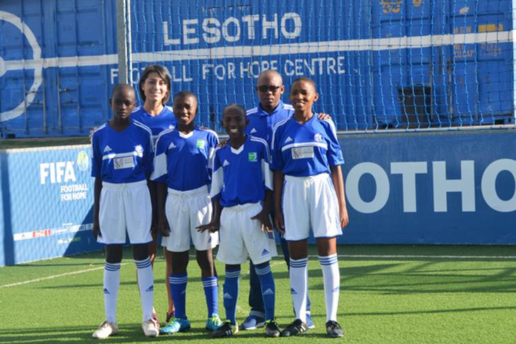 Ministry of Social Development signs MOU with Veterans Football Association of Lesotho.